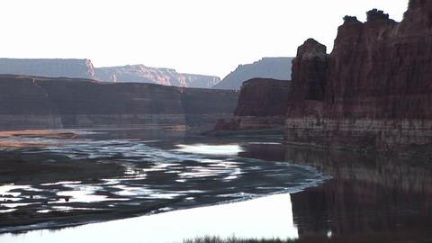 Medium shot of the Colorado River in Utah Footage