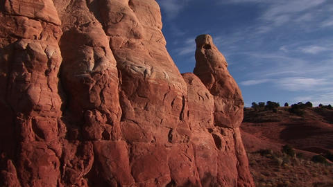 Medium Shot Of Unusual Rock Formations In Canyonlands National Park In Utah stock footage