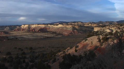Long shot of a beautiful painted desert in Southern Utah Stock Video Footage