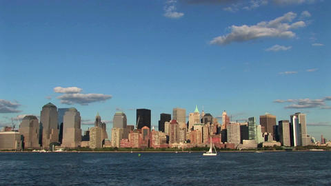 The skyline of Hoboken, New Jersey Footage