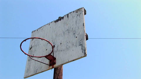 An old basketball hoop Stock Video Footage