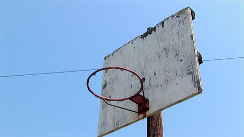 An old basketball hoop Stock Video Footage
