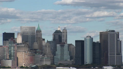 Clouds move over New York, New York Footage