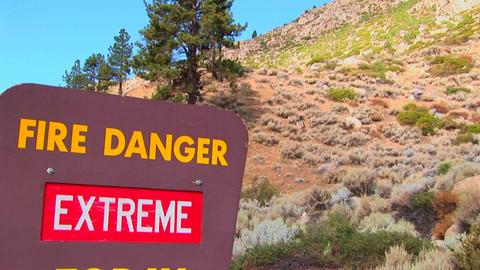 A Smoky Bear fire danger sign Footage