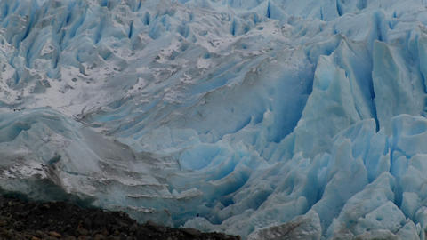 A the blue ice of a glacier Stock Video Footage