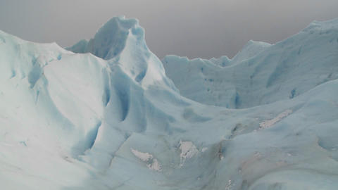 An ice mountain atop a glacier Stock Video Footage