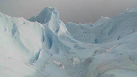 An ice mountain atop a glacier Footage