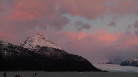 Sunrise over a glacier Stock Video Footage
