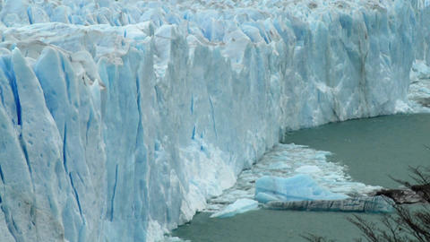 Ice has calved from a glacier Footage