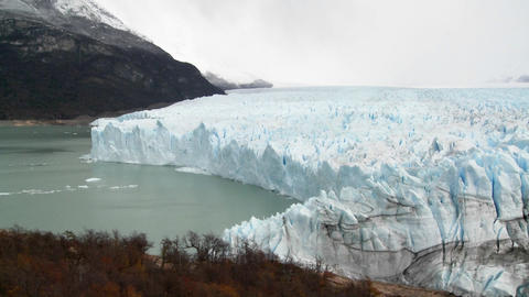 A wide shot of a glacier Stock Video Footage