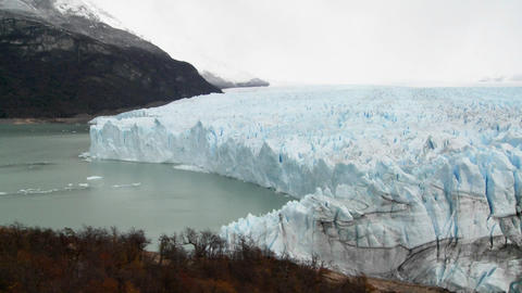 A wide shot of a glacier Footage
