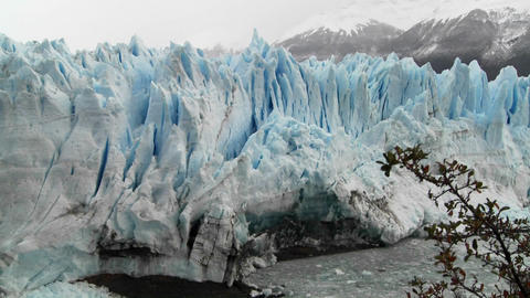 The front of a massive glacier Footage