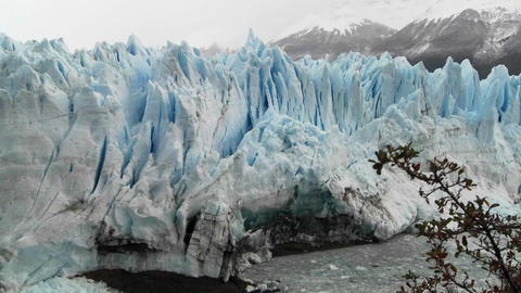 The front of a massive glacier Stock Video Footage