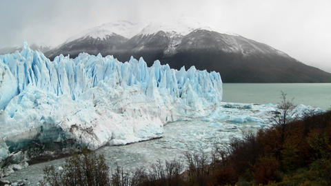 A wide shot of a massive glacier Footage