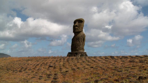 Time lapse of the mystical statues of Easter Island Footage