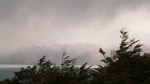 Fog and mist enshroud the Andes in the Fitzroy section of Patagonia Footage