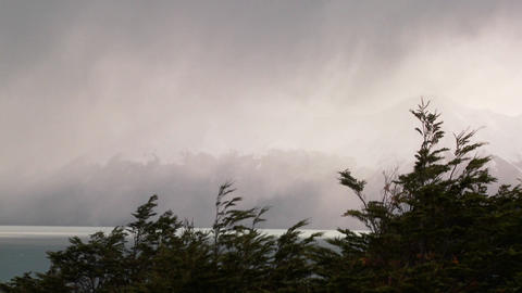 Fog and mist enshroud the Andes in the Fitzroy section of... Stock Video Footage