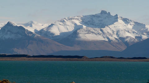 Lake Argentina in the beautiful Andes region of Patagonia Stock Video Footage