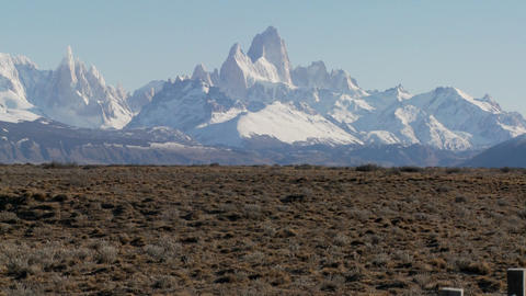 The beautiful vistas of Patagonia in the region called Fitzroy Footage