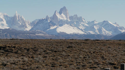 The beautiful vistas of Patagonia in the region called... Stock Video Footage