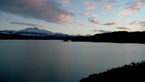 A wide shot of a beautiful lake in Patagonia, Argentina Stock Video Footage