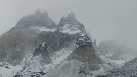 The majestic mountain peaks of Torres Del Paine in Argentina Stock Video Footage