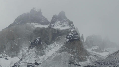 The majestic mountain peaks of Torres Del Paine in Argentina Footage