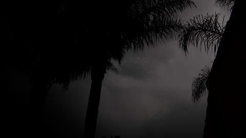Lightning strikes during a thunderstorm Stock Video Footage
