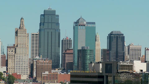 A daytime view of the Kansas City, Missouri skyline Footage