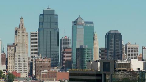 A daytime view of the Kansas City, Missouri skyline Footage