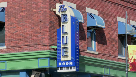 The Blue Room Music Club In Kansas City stock footage