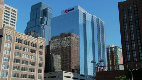 The high rises of downtown Kansas City Missouri gleams in... Stock Video Footage