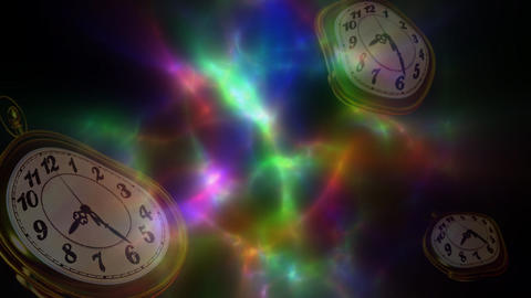 Dimensional clock 動画素材, ムービー映像素材