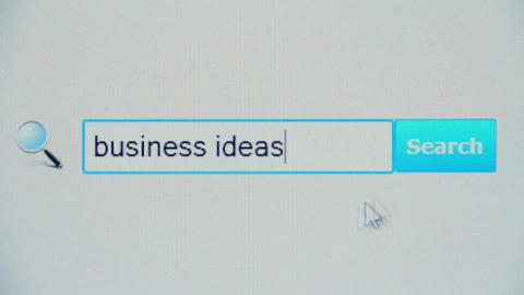Business ideas - browser search query, Internet web page Footage
