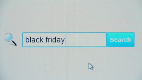 Black friday - browser search query, Internet web page Footage