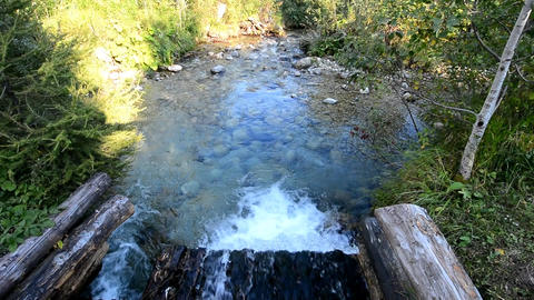 Flowing stream in gutter Footage