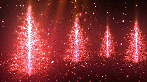 Abstract Christmas Tree 3 Loopable Background Stock Video Footage