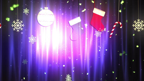 Christmas Cloth Ornaments 3 Loopable Background Animation