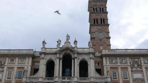 Basilica of St Mary Major. Rome, Italy Footage