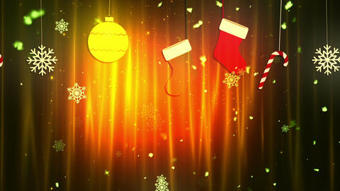 Christmas Cloth Ornaments 5 Loopable Background Animation