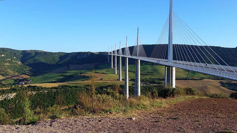 Millau Viaduct Aveyron Department France Footage