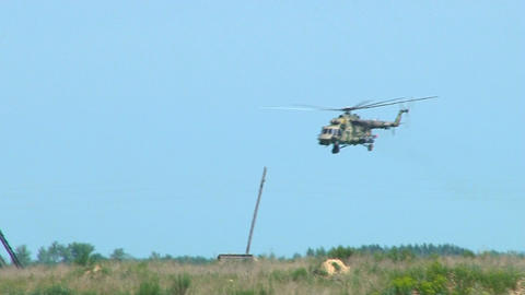 Russian military helicopter Live Action