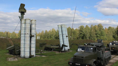 Russian military rocket launcher Live Action