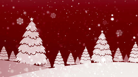 Christmas Retro 3 Loopable Background Animation