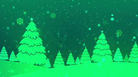 Christmas Retro 5 Loopable Background Animation