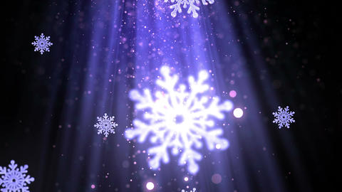 Christmas Snowflakes 3 Loopable Background Animation