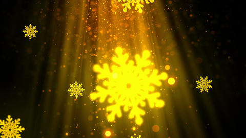 Christmas Snowflakes 4 Loopable Background Animation