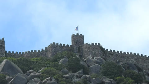Medieval Castle Walls And Tower Footage