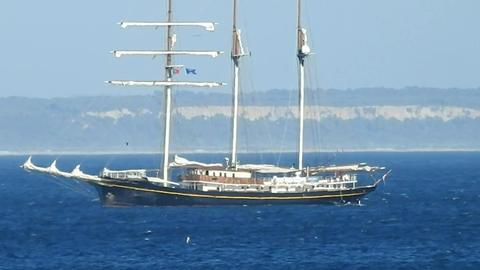Sailing Ship And Sailboat Live Action