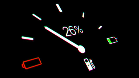Electric Car Battery Gauge Animation